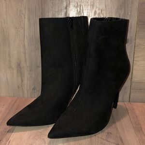 Express Pointed Toe Heeled Ankle Boots WORN ONCE!